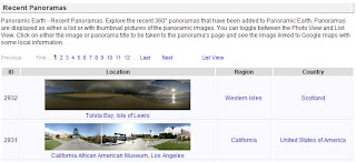 Image showing Photo View table of Recent Panoramas