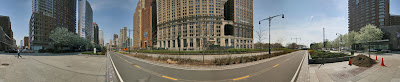 360 panorama of Broadway and Battery Place, New York. © Peter Watts