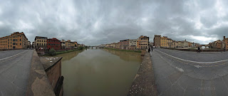 360 panorama of Florence from Santa Trinita Bridge