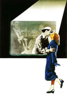 Recorte de cartaz de A Rosa Púrpura do Cairo - de Woody Allen
