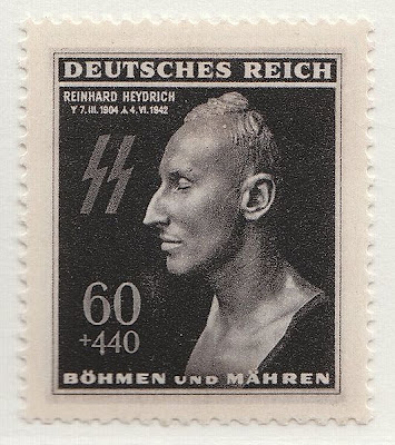 A Nazi stamp memorializing the death of Reinhard Heydrich