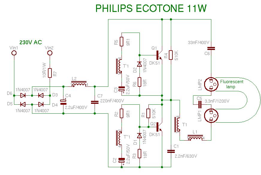 Cachivaches Esquemas Electricos De Lamparas De Bajo Consumo
