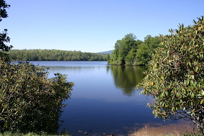 Price Lake in Julian Price Park on the Blue Ridge Parkway in Blowing Rock, NC