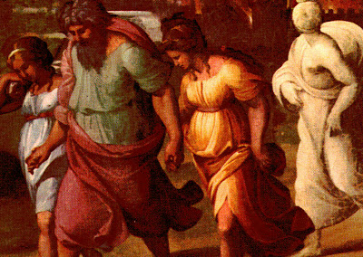 Raphael (Raffaello), Lot Flees from Sodom
