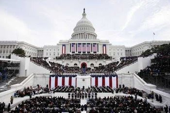 Inauguration at the US Capitol building in Washington, DC
