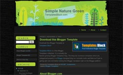 Blogger Template - Simple Nature Green