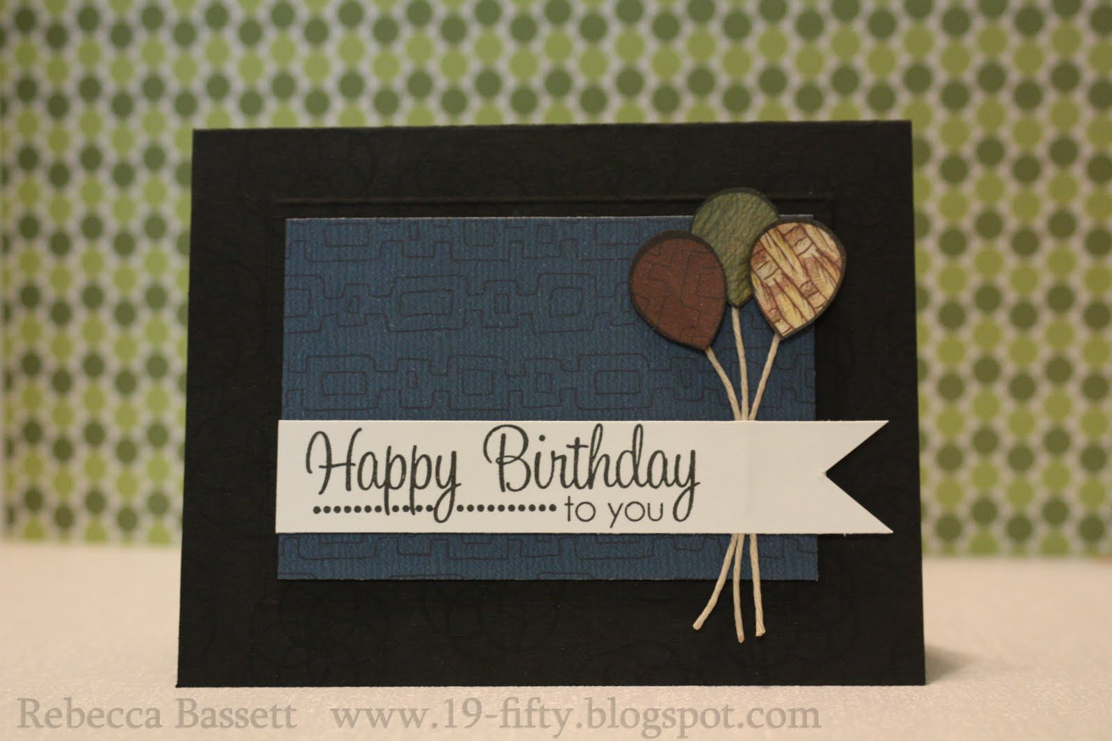 Masculine Birthday Cards Made With Cricut ~ The electric poppy cricut birthday fishes shaker card