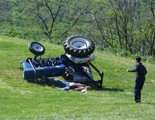 amazing tractor accidents  farming  wrong