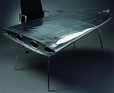 Then May We Suggest This Wing Desk, Made Out Of (you Guessed It) The Actual  Wing Of A Plane. This Unique Wing Desk Was Made By Dutch Designer Dolph  Bode ...