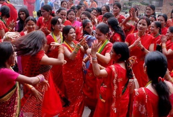 essay on teej in nepal There are many festivals in nepal such as teej , magheshesangrati, janaipurnema, buddha jayanti, dashain, tijar, mother's day, father's day, gaijatra among them, dashain is main festival of hindus people during the month of kartik(late september and early oct) nepalese people indulge in the biggest festibl of the.