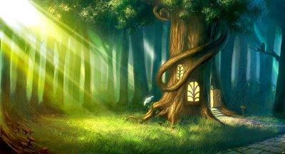 Árbol-casa Bosque+magico