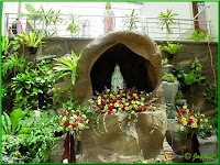Beautiful grotto of Our Blessed Mother Mary at the Church of The Divine Mercy in Shah Alam