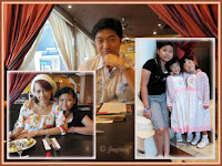 David, the birthday boy, Yanti, Dylea and the twins inside Carlos Mexican Canteena, Pavilion KL