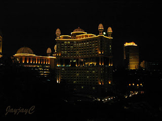 A nightscape of Sunway Resort Hotel & Spa