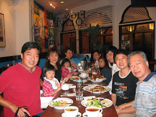 Dining with my beloved family members