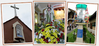 Captures of the Patron Saint of the Church of St John Vianney in Tampin, Negeri Sembilan
