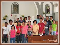 Group photo of our BEC MARS members, inside the Church of St. Paul the Apostle, at Kuala Kubu Baru, Ulu Selangor, Selangor