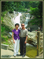 John and Jacq at Lata Iskandar Waterfalls, Tapah