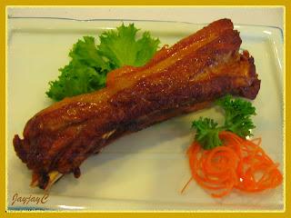 Plate of Golden Fried Pork Rib