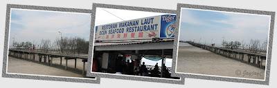 Ocen Seafood Restaurant and Lover's Bridge, Tanjung Sepat in Kuala Langat, Selangor