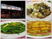 Collage of delicious food consumed at Seafood Restaurant Dai Chong, Kampar in Perak