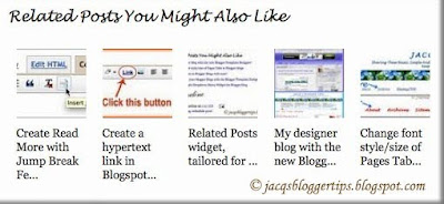 Screen shot of a customized Related Posts with thumbnails widget
