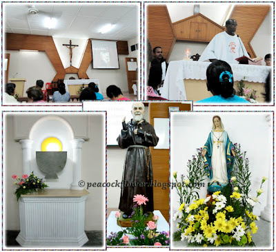 Photos taken inside the Church of Holy Family in Ulu Tiram, Johore
