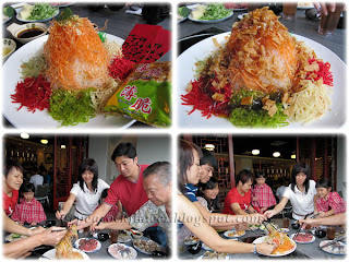 Enjoying Yee Sang, 4 days before the 2011 Chinese New Year