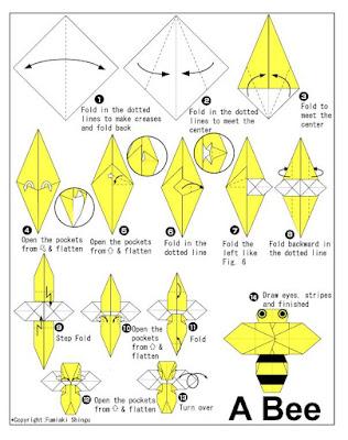 origami diagramas Abeja