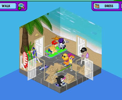 This is the room I did for the Webkinz Newz Cotton Candy Sheep Contest. Webkinz Deluxe