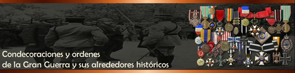 Ordenes y condecoraciones de la Gran Guerra