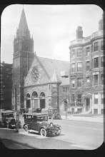 Beacon Street view of The Mount Vernon Church of Boston in the 1920's