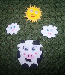 La vaca Tomasa en el verde pasto
