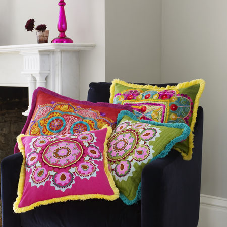 Graham green uk colorful cushions made by girl - Graham and green ...