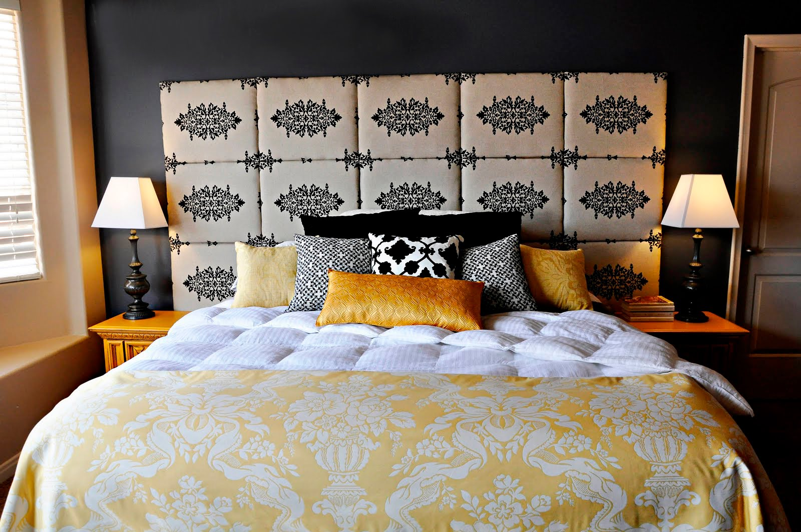 Diy headboard project by brooke made by girl for Cool bed head ideas