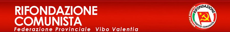 PARTITO DELLA RIFONDAZIONE COMUNISTA VIBO VALENTIA