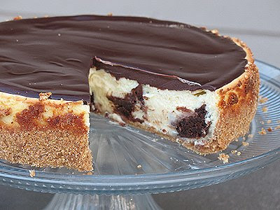 Brownie Mosaic Cheesecake - Amanda's Cookin'