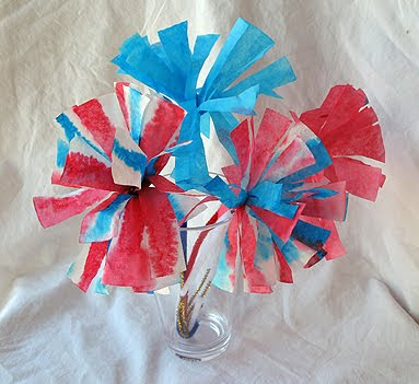 Firework Craft Ideas Kids on Crafts For Kids   4th Of July Coffee Filter Fireworks Flower Craft