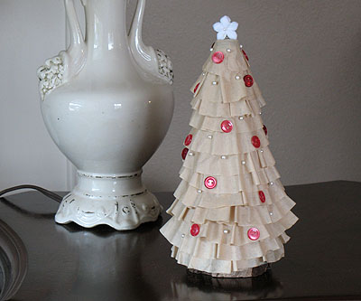 Coffee Filter Christmas Tree by Amanda Formaro of Crafts by Amanda