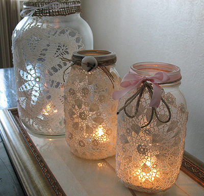 Craft Ideas Mason Jars on Mason Doiley Jars   Thewhoot