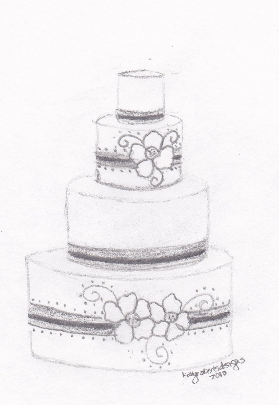 Sugar Sketch Cake Design : Kelly Roberts Designs: Wedding or Celebration Cake Design ...