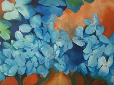 Blue Hydranges