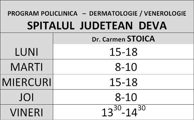 Program POLICLINICA Spital Judetean DEVA