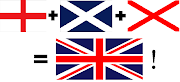 Resultatet ble et velkjent, harmonisk flagg med flott geometri. (gb recipe)