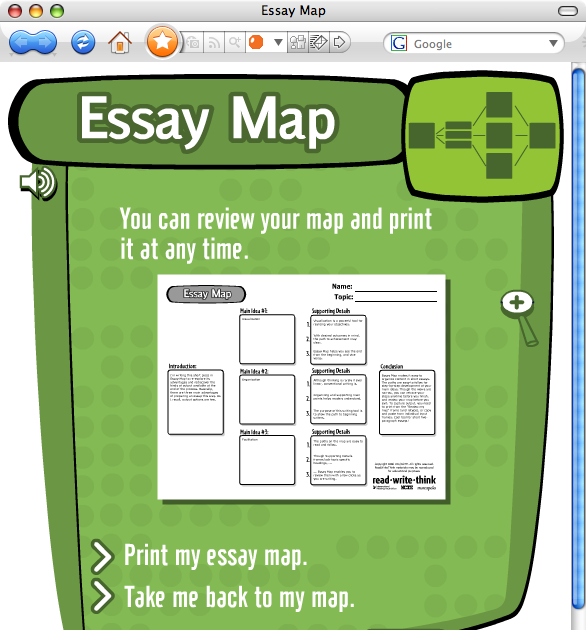 Essay mapping tools