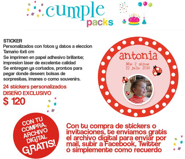 Cumple Packs: Vaquita de San Antonio / Mariquitas / Tarjetitas y ...