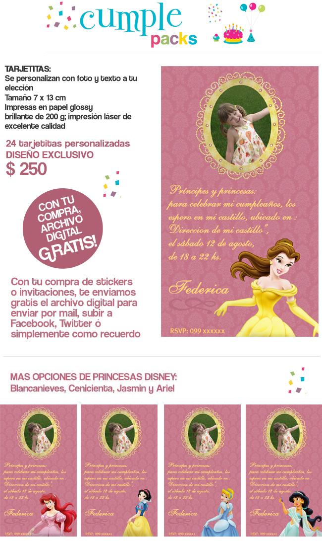 ... Tarjetas y stickers personalizados con tu foto y la de tu princesa
