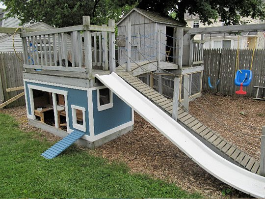 Fancy Backyard Chicken Coops :  the kids dont use anymore into the biggest best coop in the county