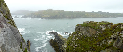 Baltimore cliffs, looking over to Inis Earcáin (Sherkin Island)