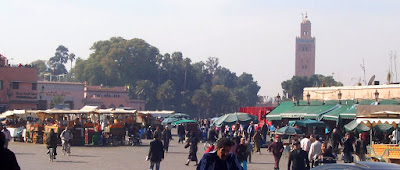 The edge of Djemaa el Fna
